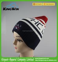 Wholesale Promotional Winter Beanie, Jacquard Beanie Hat/Custom Acrylic Jacquard Knitted Hat