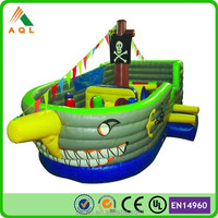 hot sale green newest design pirate bouncers inflatable