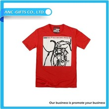 Custom Men's Clothes O neck T Shirt Printing Short Sleeve Plain Polyester Cotton T-shirt Manufacture from China