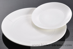 new mould and logo decal personalized round hotel and restaurant white porcelain salad plates