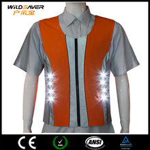 Rechargeable led lighting safety uniform for workers,builders highly visible