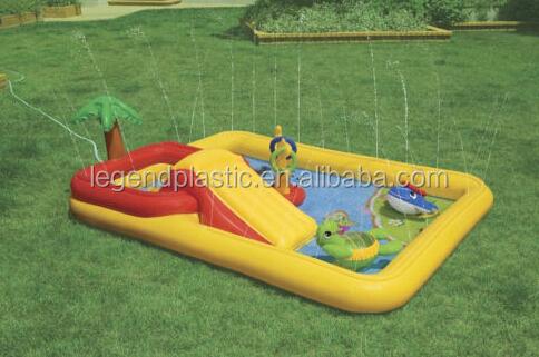 Gonflable enfants piscine avec toboggan gicleurs parc for Piscine avec toboggan gonflable