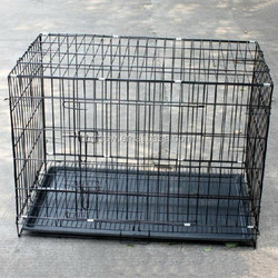 Black Folding Welded Metal Wire Dog cage For Sale