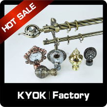 KYOK curtain rod accessories ,metal curtain pole and accessories wholesale , curtain rod factory in foshan
