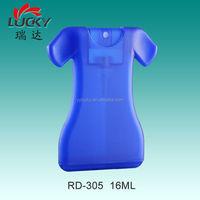 16ML Plastic Skirt Shape Perfume Spray Bottle With Plastic Cap RD-305