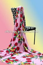 printed coral fleece colored throw