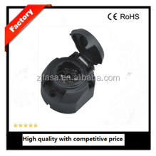 trailer connector auto socket adaptor with rubber ring CE JH001-D 7pin plastic