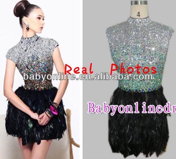 2013 cortos vestidos de fiesta baratos vestidos de fiesta cortos con plumas vestidos de fiesta de pedreria