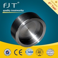 3 inch ASTM A105 GB pipe fittings blacking painting pipe end cap