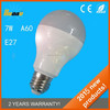 2015 latest design SMD chips a60 7w E27 led bulb light