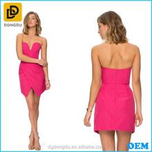 Strapless Design Sweetheart Neckline And The Asymmetric Wrap Skirt Women Party Dress