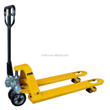 CE Certificate Yellow NL or PU Wheel Capacity 2000kg -3000kg Model CBYC Hand Pallet Truck Rubber Wheel