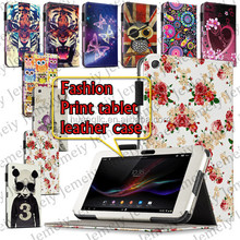 "High Quality Printing PU Leather Folio Media Stand Case Cover Bag For Sony Xperia Tablet Z 10.1"" Android PC Tablet"