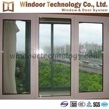 Aluminum casement two sash opening window