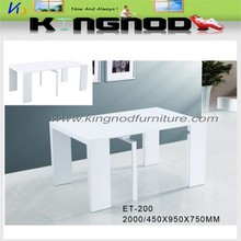 high gloss extension dining table folding table