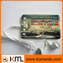 Hot selling Portable credit card mp3 player for iPhone / iPad / Mp4 / GPS /bicycle