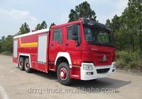 Sinotruk heavy duty 16000L water foam fire truck size of fire engine 10210*2500*3510 for sale