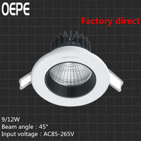 9w led recessed ceiling downlight for kitchen cabinets design super bright 110LM/W led spot light cob