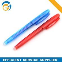 Red and Blue Logo Custom Erasable Gel Ink Pen with Eraser