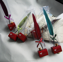 giveaway item, feather pen with ink bottle gift set, manual gift