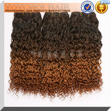 Two tone colored ombre hair weaves/ombre hair extension