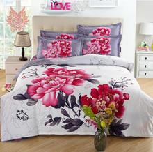 New multi-color printed 100% cotton silk duvet cover Bedding set Pillowcase , Home textile