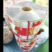 Laminated Printed Metalized plastic film for snack food packaging