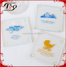 party favors baby shower supplies glass coasters