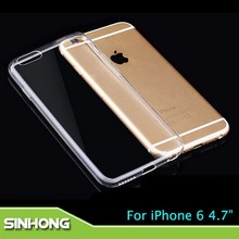 High Transparent Clear Silicone Case For iPhone 6,Case For iPhone 6