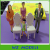1:25 architecture miniture scale figures kits model construction plastic building materials