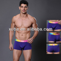 Sexy blue cotton shorts briefs and sex clothes for men in boxers underwear