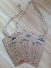 Custom cheap fashion printed paper clothing hang tag
