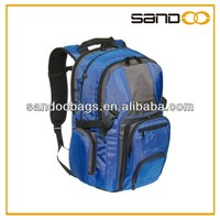 Wholesale large men blue backpack with laptop compartment