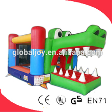 Used Crocodile Inflatable Bounce House for Kid/Funny Cartoon Jumping House