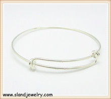 buy direct from china factory Shiny Silver wire wrap bangle bracelet,can wrap two times or three times