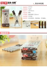 hot sale tea dot style gel pen set for promotion gift v1723