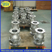 cast steel flang gate valve WCB gate valve tree way ball valves