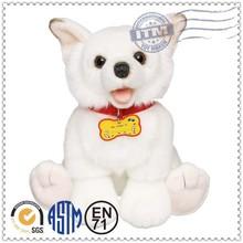 Novelty Logoed Promotional petting zoo bright eyes white poodle dog plush toy