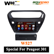 Capacitive Touch screen Car radio with GPS navigation SWC iPod/ iphone 3G WIFI Bluetooth free map for peugeot 301