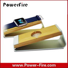 wholesale Wood Stand For Apple Watch and Mobile Phones With Cable Groove and Holes For Charging