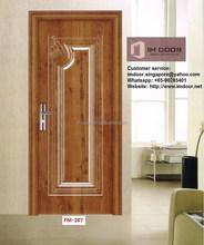 Commercial Economy Pressed Steel Doors Design for Office (FM-207)