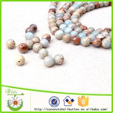 La muestra libre 8 mm piedra natural redondas perlas de joyería que hace