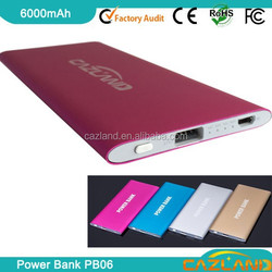 2015 new back up power 6000mah power bank of goods from china