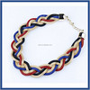 Brand new arrived China fashion color changing statement jewelry beautiful girl handcraft rope chain necklace