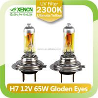 H7 12V 65W 2300K Golden Eyes Super Car halogen head light