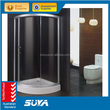 Modern design bathroom aluminium alloy arc sliding bath shower room