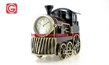 Zinc alloy antique Train Mini Quartz analog Clock