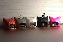 luxury PE material plastic dog and cat houses
