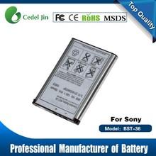 cell phone accessory , BST-36 3.6V battery for Sony W200i / Z310 / Z310a / Z310i / Z500 / Z550a / Z550c
