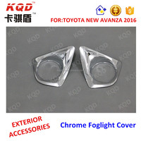 Top selling ABS Plastic foglight cover chromed for toyota avanza car accessories toyota avanza 2016
